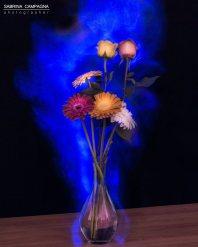 Foto di Sabrina Campagna durante il Workshop di Light Painting